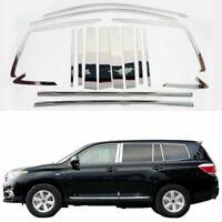 Full Windows Molding Trim Decoration Strips Center Pillar For Toyota Highlander