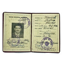 1936 Yugoslavian ID Book USSR Soviet Union Idenification Card Photo RARE Old