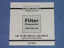 Hama filtro Wratten 100x100 LB kr6/81ef