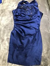 Jane Norman Blue Sequin Party Evening Occasion Dress Size 12 NEW WITH TAGS