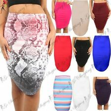 Unbranded Polyester Knee Length Plus Size Skirts for Women