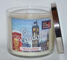NEW BATH & BODY WORKS LONDON TEA LEMON SCENTED CANDLE 3 WICK 14.5 OZ LARGE SUGAR