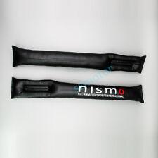 Pair Black PU Leather Car Seat Gap Filler Leakproof for Nismo Motor Sport