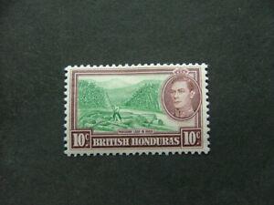 British Honduras KGVI 1938 10c green & reddish brown SG155 MM
