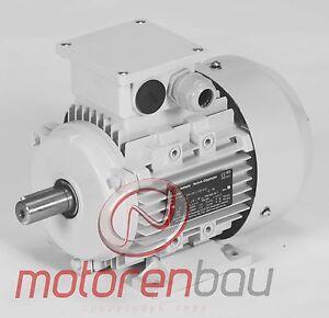 Energiesparmotor IE1, 0,25 kW, 3000 U/min, B3, 63B, Elektromotor, Drehstrommotor