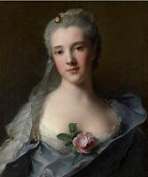 Dream-art oil painting Jean-Marc Nattier Manon Balletti portrait with roses art