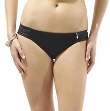 Size L 14 Panache Sw0364 Geneva Ruched Bikini Brief Bottoms Black