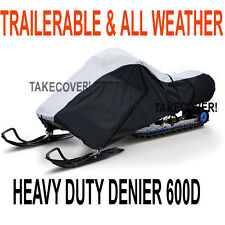 """Deluxe NEW Snowmobile Sled Cover 600D TRAILERABLE Heavy Duty 119 - 127"""" SNXL01X1"""