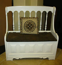 Magnificent Wooden White Antique Benches For Sale Ebay Andrewgaddart Wooden Chair Designs For Living Room Andrewgaddartcom