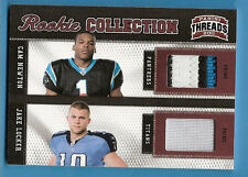 CAM NEWTON DUAL ROOKIE JERSEY PATCH card #d9/50 JAKE LOCKER RC CAROLINA PANTHERS