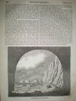 Scratchell's Bay Isle of Wight 1834 old print and article