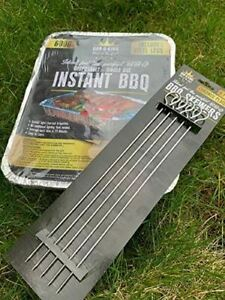 BBQ Bar-B-King Instant Disposable with Steel Legs - Instant Light Charcoal Barbe