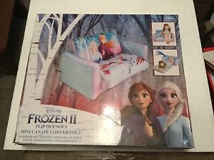 Disney Frozen 2-in-1 Inflatable Flip Out Kids Sofa Mini Bed Couch Elsa Anna Olaf