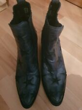 Ladies Blue Ankle Boots Size 41 Old Gringo
