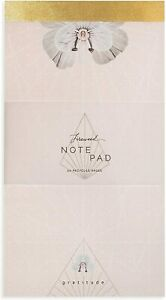 Papaya E1 Art Stationery Lined Memo Notepad 50 Pages 10x5.5in - Gratitude Geo