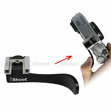 Finger Grip Thumb Button with Flash Hot Shoe Mount Adapter Holder fr ILDC Camera