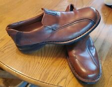 Clarks Brown Leather Slip On Casual Comfort Loafers Shoes Men's 12 M EUC