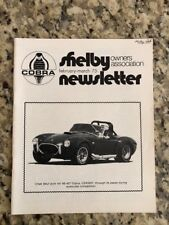 Shelby Cobra Owners Association Newsletter February March 1975 New MINT Rare