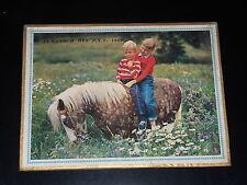CALENDRIER PTT - 1965 - ENFANTS SUR PONEY - OLLER