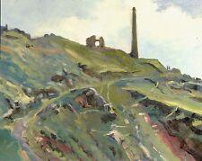 """Original Michael Richardson """"el acantilado ruta botallack Cornish Costa pintura al óleo"""