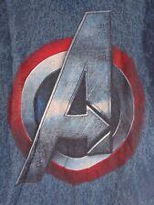 Marvel AVENGERS T Shirt Mens Size LARGE Age of Ultron Blue Short Sleeves