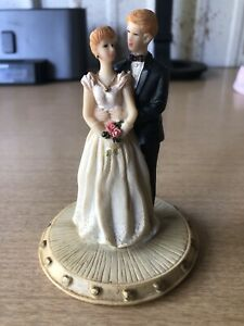 "Vintage Early 1980s Wedding Cake Topper K's Collection ""Wedding Ferries"" Ltd Ed"