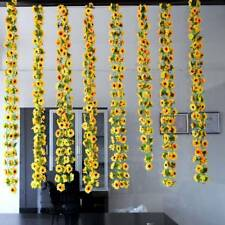 Artificial Sunflower Ivy Flowers Green Leaves Hanging Garland Fences Party Decor
