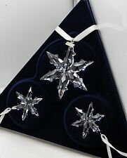 2015 Swarovski Snowflake Christmas Ornament Set