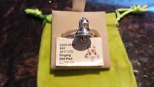 Authentic Chamilia Limited Edition Christmas Ringing Bell Red Swarovski Charm