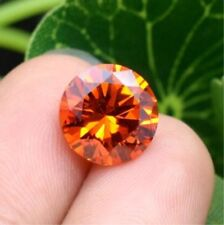 16.80CT 14MM Padparadscha Sapphire Round Cut Shape AAAAA VVS Loose Gemstone