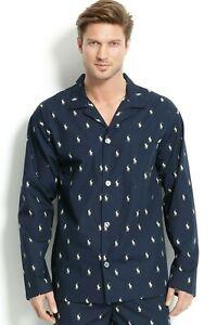 Polo Ralph Lauren $44 Men's Long Sleeve Cotton Pajama Top Shirt L008NY M L XL