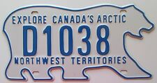 Northwest Territories 2011 DEALER POLAR BEAR License Plate SUPERB # D1038