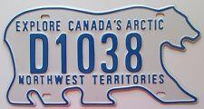 Northwest Territories 2011 DEALER POLAR BEAR License Plate SUPERB # D1038