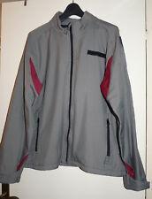 Blouson coupe-vent parka mi-saison gris détails rouges homme AL'X Taille XL - BE