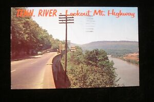 1971 LOOKOUT MOUNTAIN TN & TENN RIVER & HIGHWAY ON HWY 48 MILEAGE SIGN CHROME PC