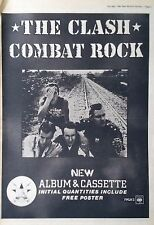 THE CLASH - COMBAT ROCK ALBUM FULL PAGE NME MUSIC PAPER ADVERT 15 MAY 1982