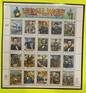 1994 Civil War Classic Collection 32 Cent Stamp Sheet of 20