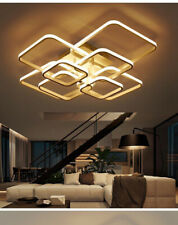 Rectangle Ceiling Light Led Lamp Modern Living Room Bedroom Aluminum Chandelier
