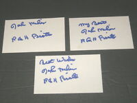 John Milner - Autographed Signed 3x5 Index Cards - Lot of 3 - Pirates Expos Mets