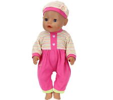 2pcs/set The Hat+Suit Wear For 43cm Baby Born Zapf Doll 17In Babies Clothes