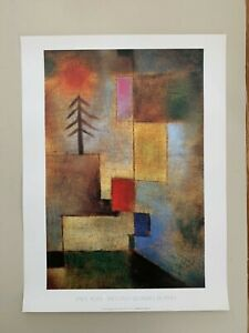 PAUL KLEE,'SMALL SQUARE OF PINE,1922', AUTHENTIC 1994 ART PRINT