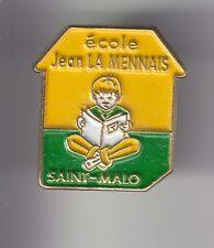 RARE PINS PIN'S .. ART LIVRE BOOK ECOLE SCHOOL JEAN LA MENNAIS SAINT MALO 35 ~DW