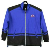 Cheneral San Francisco Reversible Full Zip-Up Long Sleeve Jacket Blue & Black
