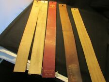 FIVE (5) Vintage Men's 2 Leather Razor Strops Strap  Used 3 fabric items