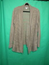 WOMEN'S SONOMA LIFE AND STYLE OPEN KNIT CARDIGAN SWEATER LIGHT BROWN SIZE XL