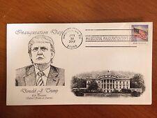 PRESIDENT TRUMP First Day Cover Washington D.C.Inauguration Postmark 1/20/2017 3