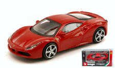 Ferrari 488 Gtb 2015 Red 1:43 Model BBURAGO