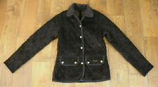 WOMENS BARBOUR VINTAGE CORD BROWN QUILTED JACKET UK 8