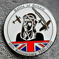 Battle of Britain - NEW Enamel pin badge POPPY DAY 80th Anniversary 1940 - 2020