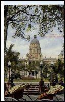 DURBAN Südafrika Afrika 1920 Rickshwa Rickscha Fahrer Town Hall Gardens Postcard